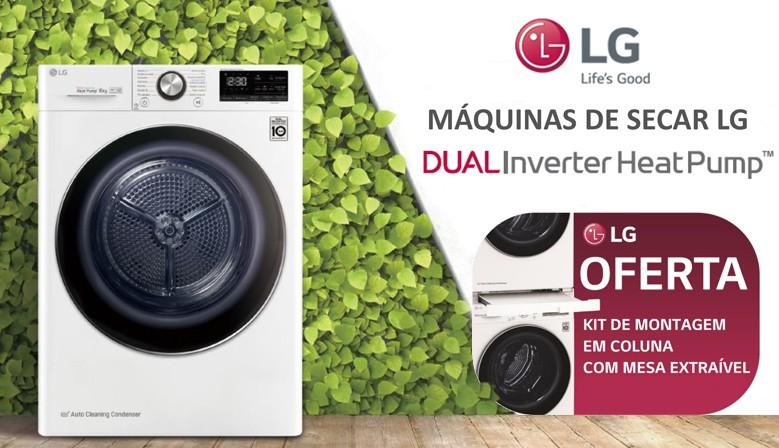 máquinas de secar LG DUAL Inverter Heat Pump